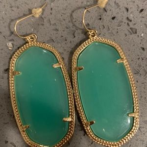 Kendra Scott Dangling Earrings, Aqua